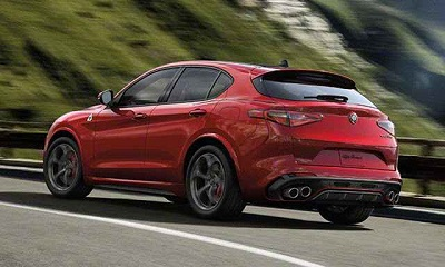 Alfa Romeo Stelvio on the road